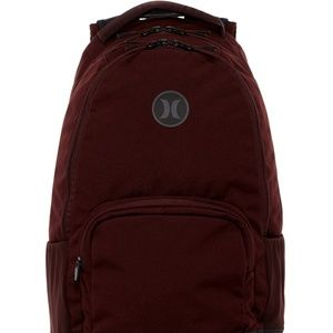 NWT Hurley SURGE II Burgundy Laptop Backpack